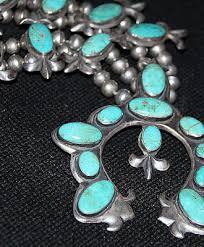 navajo or hopi squash blossom necklace