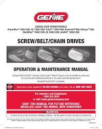 Genie Garage Door Light Not Working Genie 2042 Tv Use And Care Manual Manualzz Com