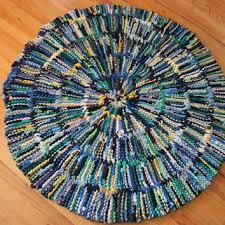 t shirt rag rug baby blue circular navy royal sky gray yellow gr