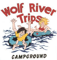 Image result for wolf river trips & campground new london wi
