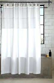 Elegant White Shower Curtains Elegant White Cotton Shower Curtain