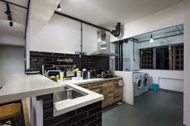 Small Picture Modern Industrial Concept HDB 5room Scandinavian Kitchen