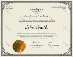 What Is Course Completion Certificate Wellness Education Online Open Path Collective