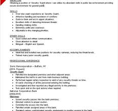 security guard resume skills writing resume sample writing .