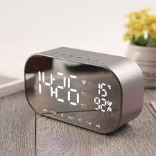 radio for office. LED Alarm Clock With FM Radio Wireless Bluetooth For Office Bedroom Speaker  Support Aux TF USB Radio Office S