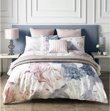 karl lagerfeld flourish cream pink grey king size duvet cover