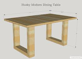 how to build a diy chunky modern dining table free plans by jen woodhouse