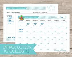 Baby Food Diary Introduction To Solids Kit Printable
