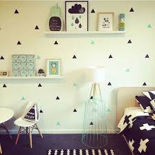 Small Picture Aliexpresscom Buy Gold Triangles Wall Sticker Removable Home