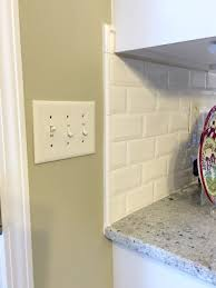 subway tile kitchen backsplash edges trendyexaminer