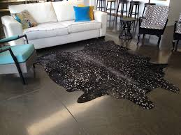 metallic gold and black cowhide rug black cow skin rug large sevenhills