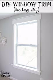 diy home improvement on a budget easy diy window trim easy and do