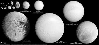 saturn s size saturns small satellites to scale the planetary society