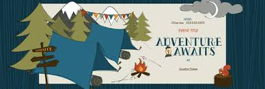 Chalkboard Camping Baby Shower Invitations  Amy Shower Camping Themed Baby Shower Invitations