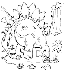Small Picture Jurassic park coloring pages stegosaurus ColoringStar