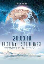 Earth Day 20th Of March Psd Flyer Template Facebook Cover Instagram Post