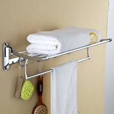 Wall Mounted Folding Towel Rack Holder Mount Paper Bed Bath Beyond Bathroom  Hanger Hooks. Wall Towel Rack With Hooks For Rolled Towels Bed ...