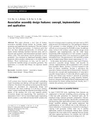 Design Features To Facilitate Machining Pdf Associative Assembly Design Features Concept
