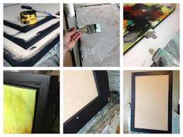jen dixon shows us step by step as she mounts frames a painting on
