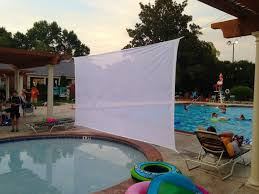deck projection screen outdoor projection screen