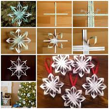 paper snowflakes 3d wonderful diy woven paper star snowflake ornaments