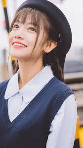 日系学生制服美女清新写真手机壁纸 おきにいり 美しい女性女性