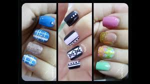 Nail Designs With Stripers 3 Nail Art Designs Using Nail Striper Nail Art For Beginners
