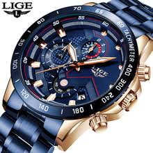 <b>LIGE 2019 New</b> Fashion Mens Watches with Stainless Steel Top ...