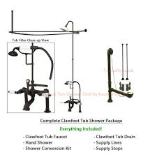 tub to shower faucet conversion kit. buy oil rubbed bronze clawfoot tub shower conversion kit with enclosure curtain rod 10010orb in cheap price on alibaba.com to faucet