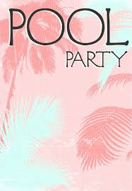 Pool Party Invitation Template Unique Summer Party