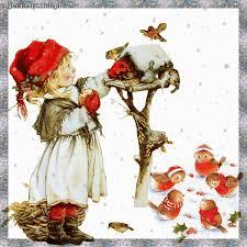 Image result for ruchome obrazki z ptaszkami zima