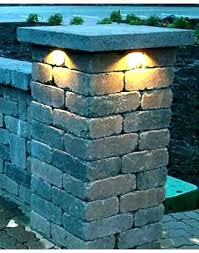solar retaining wall lights home depot outdoor landscape lighting installed by cherry tree landscaping retaining wall lights