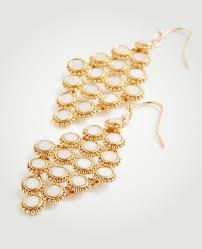 mother of pearl chandelier. Ann Taylor. Women\u0027s Metallic Mother Of Pearl Chandelier Earrings