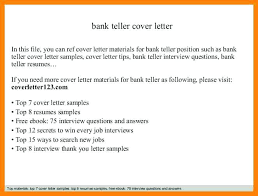 Cover Letter For Bank Teller Position - Free Letter Templates Online ...