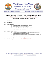 Meet And Greet Meeting Agenda Wam Committee Meeting Agenda Minutes Combined