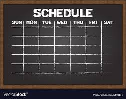 Schedule Document Template Chalkboard Schedule Document Template