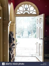 looking out front door. Stock Photo View Looking Out Of Open Front Door With Fan Light To Snowy Garden Path Best Viewer Ideas Eye E