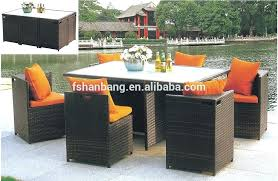 rattan round garden table and chairs outdoor garden patio 9 piece resin wicker dining cube table