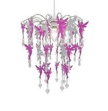 fairies chandelier purple lamp shade easy fit pendant ceiling lighting for kids