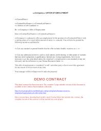 Letter Of Employment Samples Offer Employment Letter Template Zaxa Tk