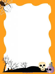 Letter Borders For Word Paper Border Templates Halloween Paper Borders Printables Home