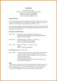 Personal Profile Format In Resume Resume Ideas