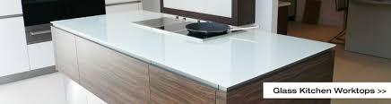 glass kitchen worktops