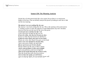 sonnet the meaning analysis gcse english marked by  document image preview