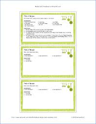 3 By 5 Index Card Free 3x5 Recipe Card Template