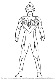 learn how to draw ultraman tiga ultraman step by step drawing tutorials