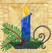 In-the-hoop Christmas Quilt Block & Candle In-the-hoop Christmas Quilt Block Adamdwight.com