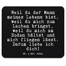 Mr Mrs Panda Mauspad Mit Spruch Weil Du Der Mann Meines Lebens