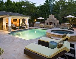 backyard pool and outdoor kitchen designs. Beautiful Designs Image Of House Plans With Pool And Outdoor Kitchen Design For Backyard Designs D