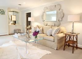 how to decorate a large wall in living room with mirror